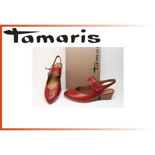Tamaris Sling Pumps chili 4 cm Absatz
