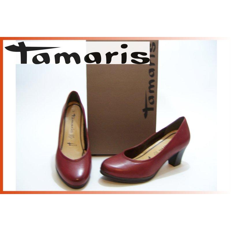 Tamaris Pumps 5cm bordaux