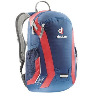 blau-roter Deuter Kinderrucksack Ultra Bike, steel-fire