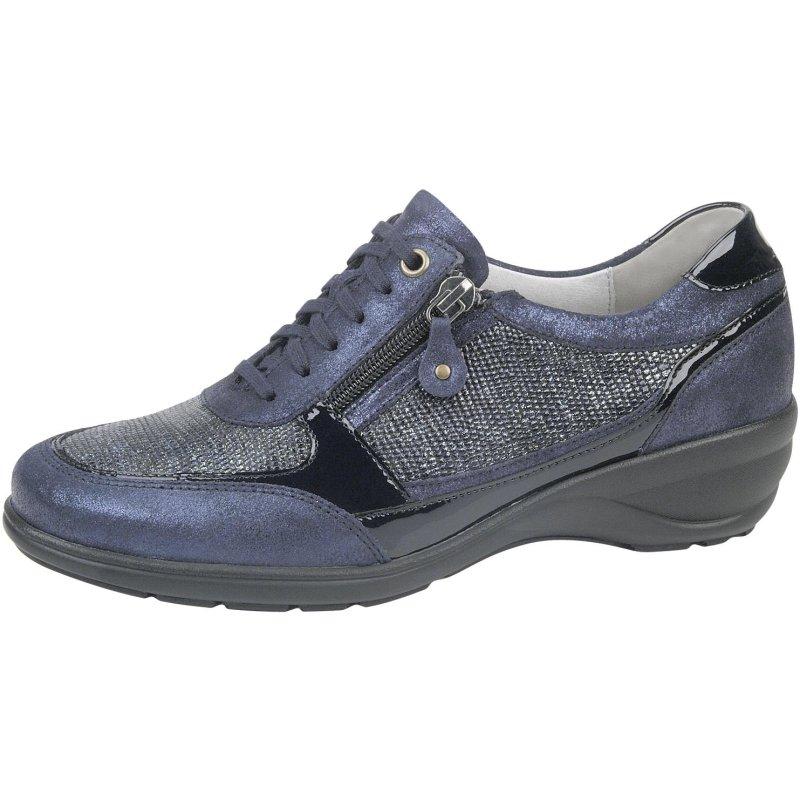 doppelter gutschein neuer & gebrauchter designer guter Service Waldläufer Damen Schnürschuh Hage schwarz mit Glitter, herausnehmbares  Fußbett