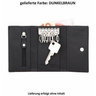 ee31f5c64e584 ganz dunkelbraune Hakenschlüsseltasche aus hochwertigem... EASTLINE