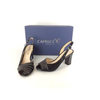 5cbe472fb8d719 Caprice Sling Sandale schwarz mit Nieten