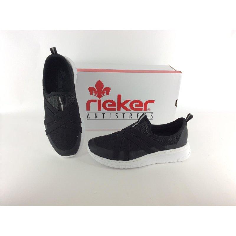 big sale f52da 2bc64 Rieker Damen Sneaker schwarz