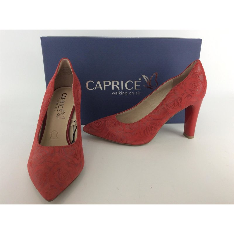 Caprice Damen Pumps ; 8cm; red Roses