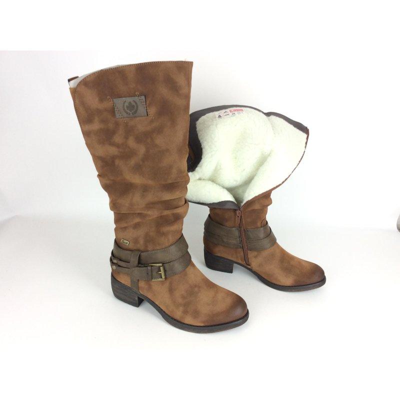 zahlreich in der Vielfalt süß billig Genieße am niedrigsten Preis Rieker Tex Damen Stiefel braun mit Fesselschnalle