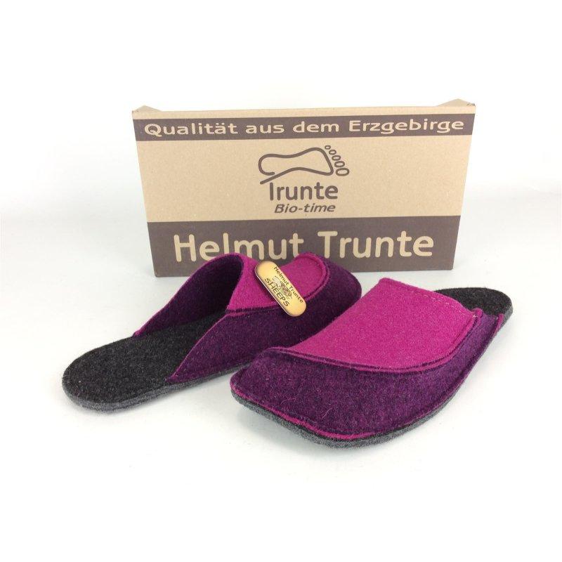 Original Kauf niedriger Preis neues Konzept Helmut Trunte Damen Filzpantoffel lila-pink, mit Filzlaufsohle