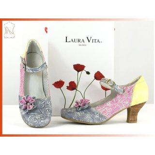 885fb193be4ed6 Laura Vita Damen Pumps grau rose gelb